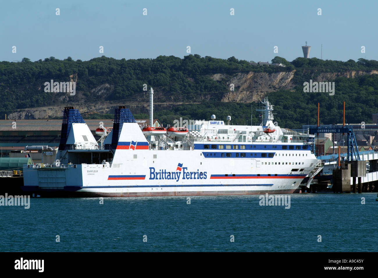 Barfleur cruise ferry ship information brittany ferries -  Port Of Cherbourg France Ferry Barfleur Of Brittany Ferries Fleet Stock Photo