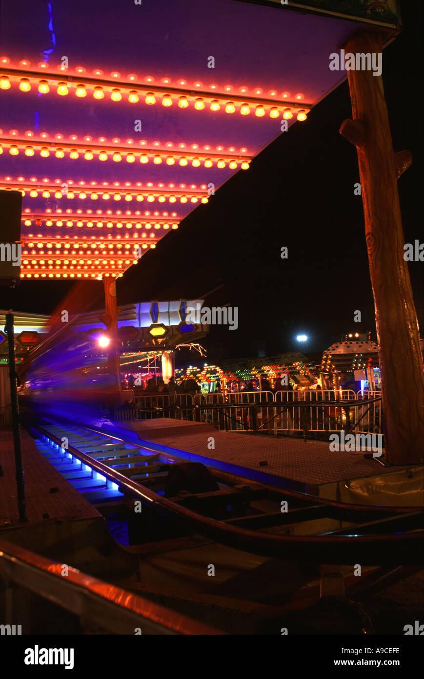 FAIRGROUND OAXACA STATE full horizontal colour SUNSET NEON ...