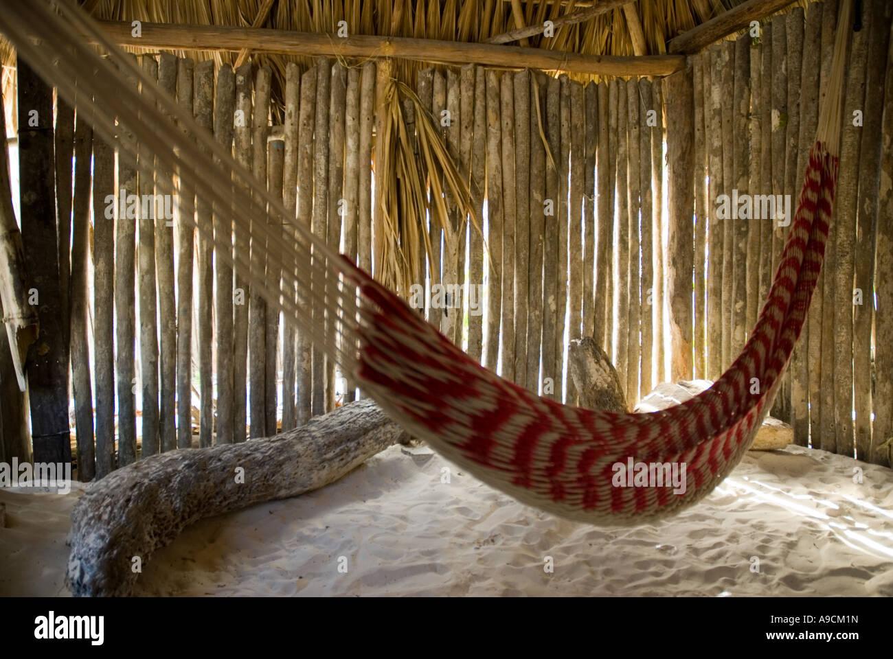 tulum caribbean cabana hut and hammock tulum caribbean cabana hut and hammock stock photo royalty free      rh   alamy