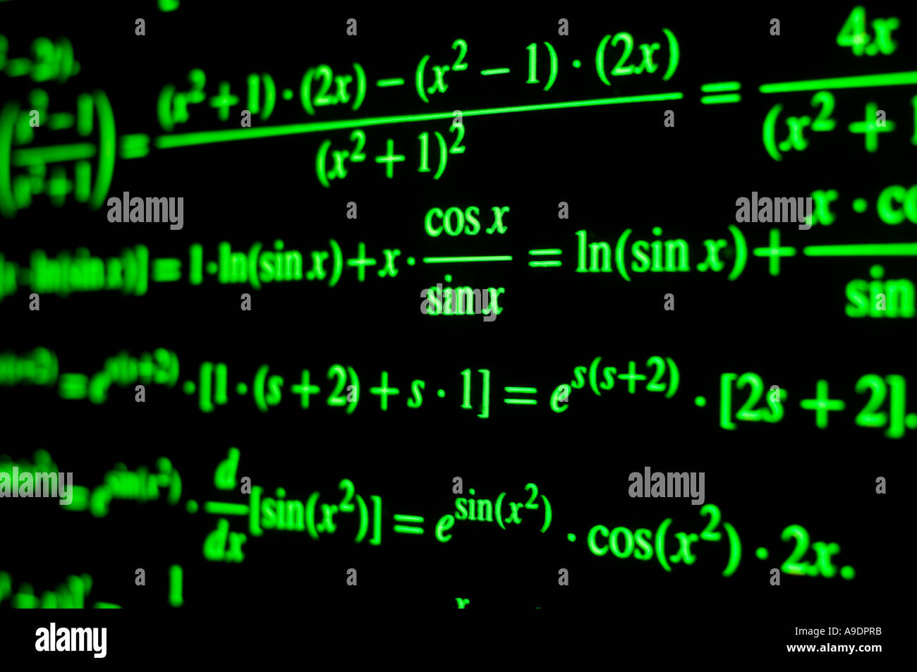 Mathematical symbols stock photos mathematical symbols stock multiple mathematical symbols on graph paper projected onto computer screen stock image biocorpaavc