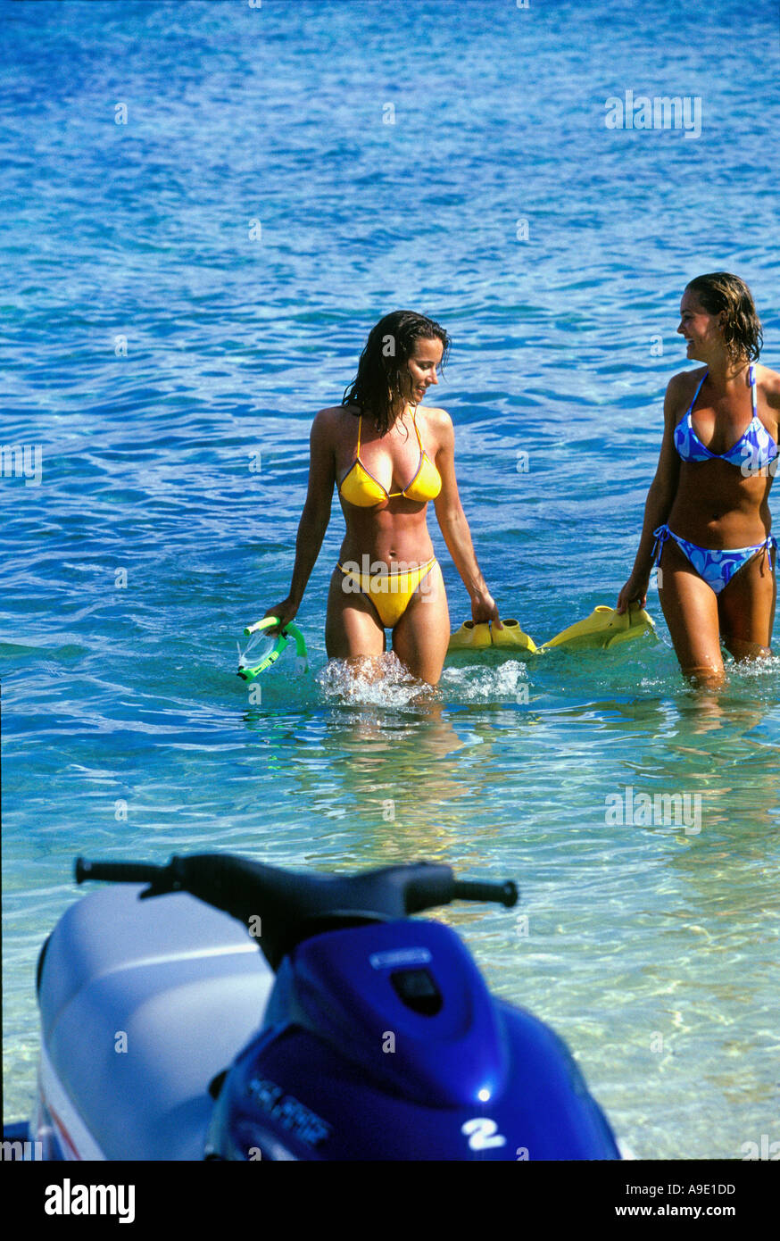 jetski bikini model Girls in bikinis at beach with Jet Ski Fiji model releases 299 300