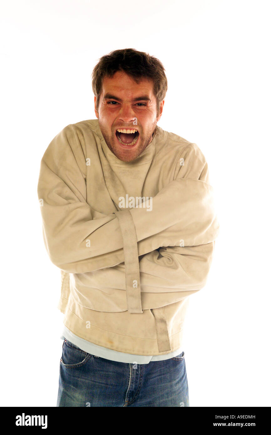 Man in a Straight Jacket Stock Photo, Royalty Free Image: 12341632 ...