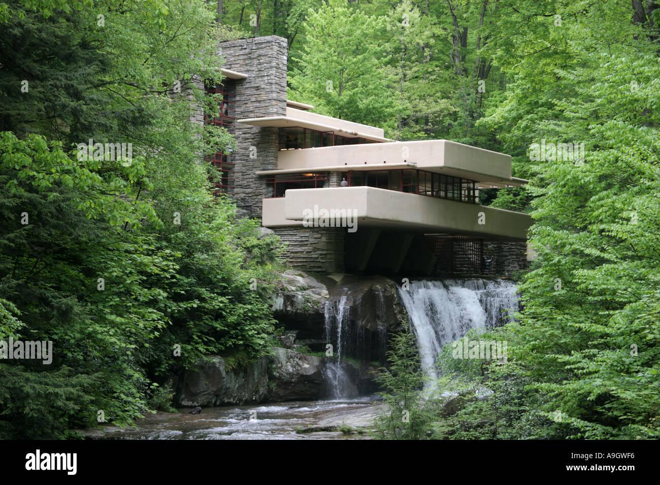 Fallingwater By Frank Lloyd Wright Mill Run Pennsylvania