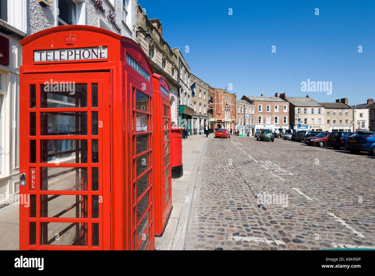Red Phone Boxes In The Town Centre Market Place Richmond