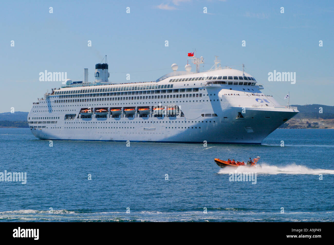 Regal Princess Cruise Ship And Whale Watching Tour Boat - Cruise ship whale