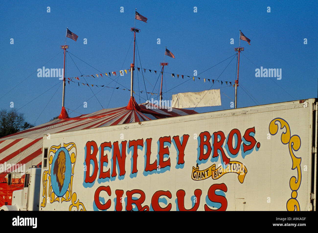 Brothers circus big top tent truck wagon sign American US United States & Bentley Bros. Brothers circus big top tent truck wagon sign ...
