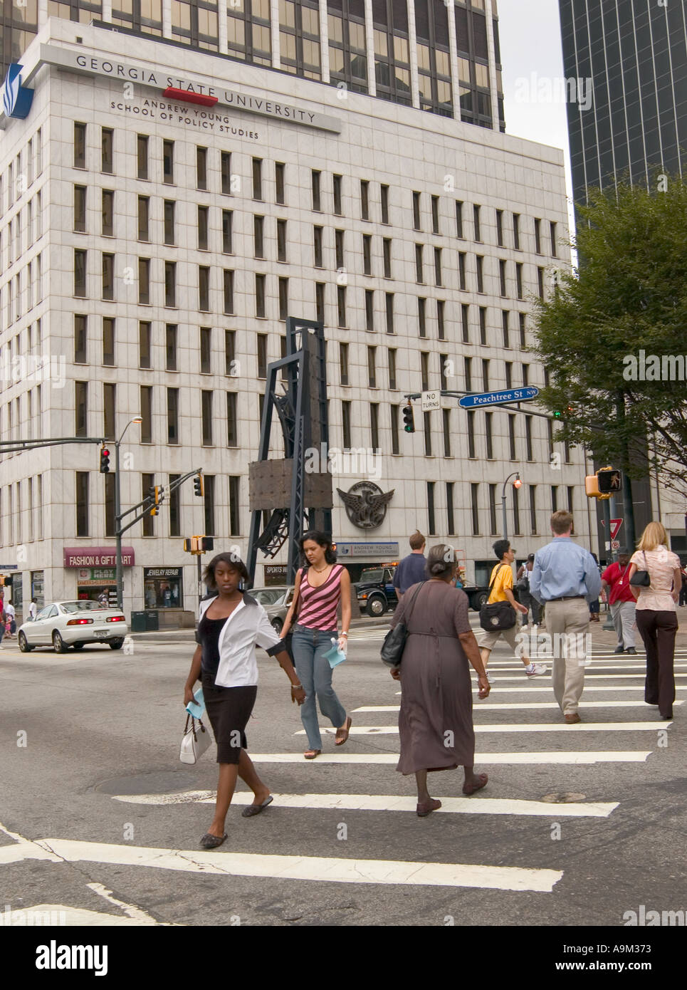 People Cross Busy Street In Atlanta GA USA Stock Photo Royalty - Ga usa