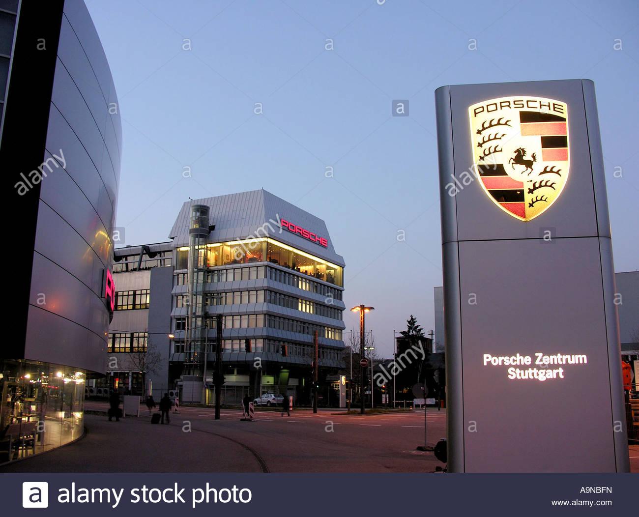 porsche headquarters in stuttgart zuffenhausen stock photo. Black Bedroom Furniture Sets. Home Design Ideas