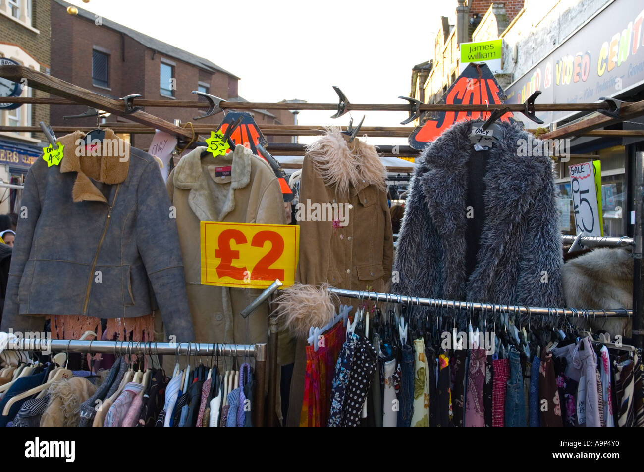 Cheap Clothing At Walthamstow Market In East London Capital Of ...