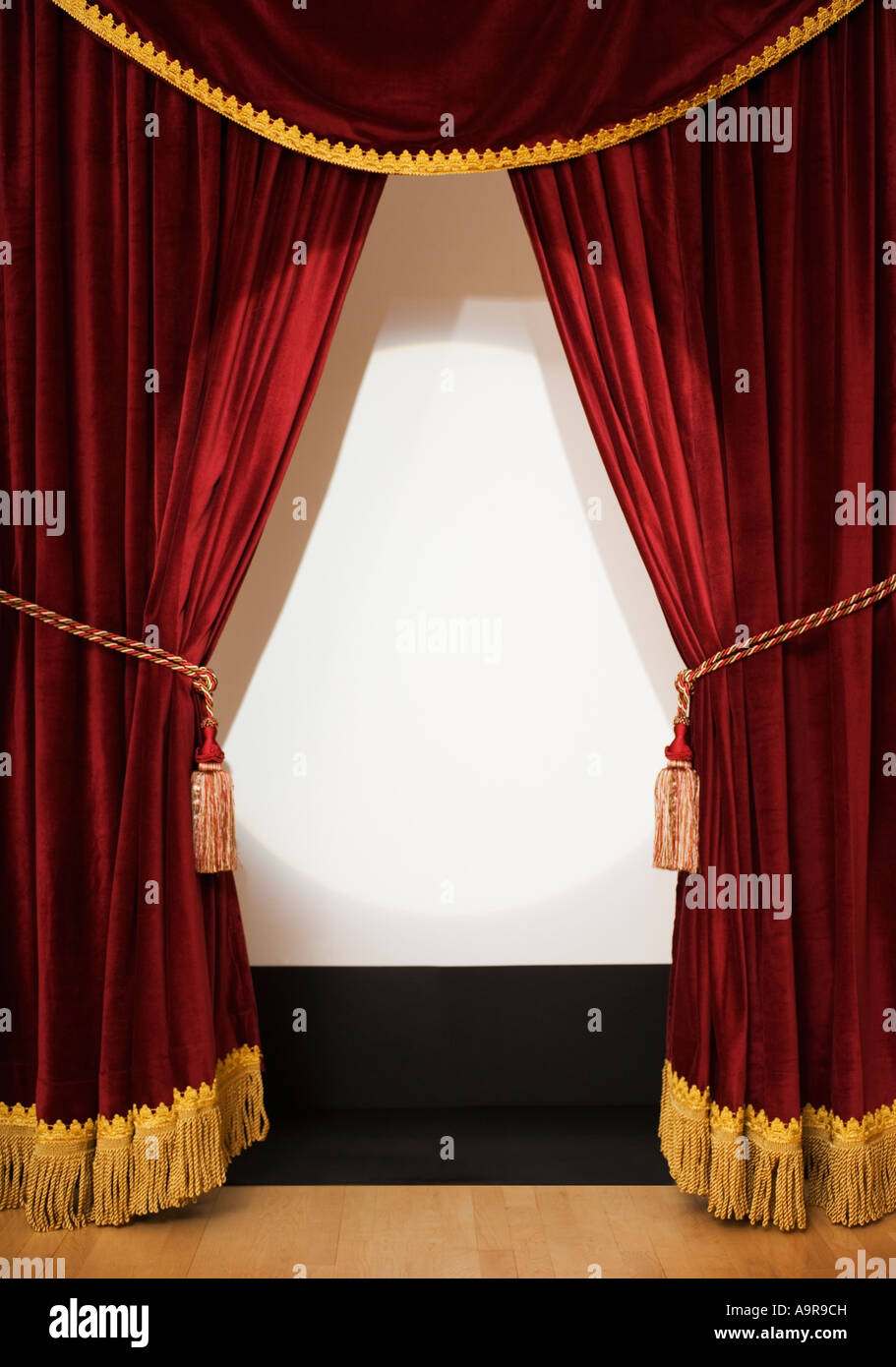 Open theater drapes or stage curtains royalty free stock image image - Screen Behind Open Stage Curtains