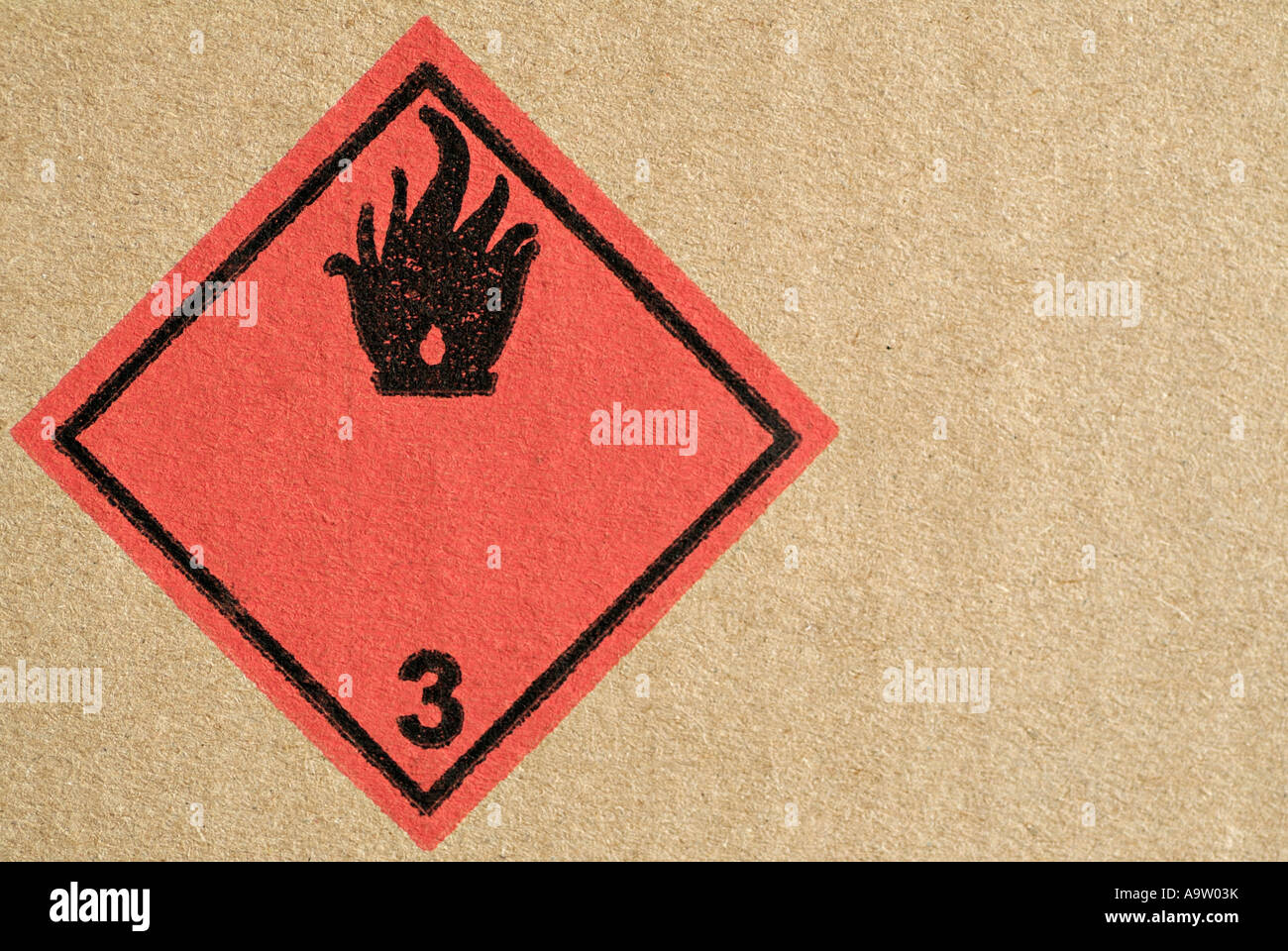 Fire hazard warning symbol on the side of a cardboard box stock fire hazard warning symbol on the side of a cardboard box biocorpaavc Gallery
