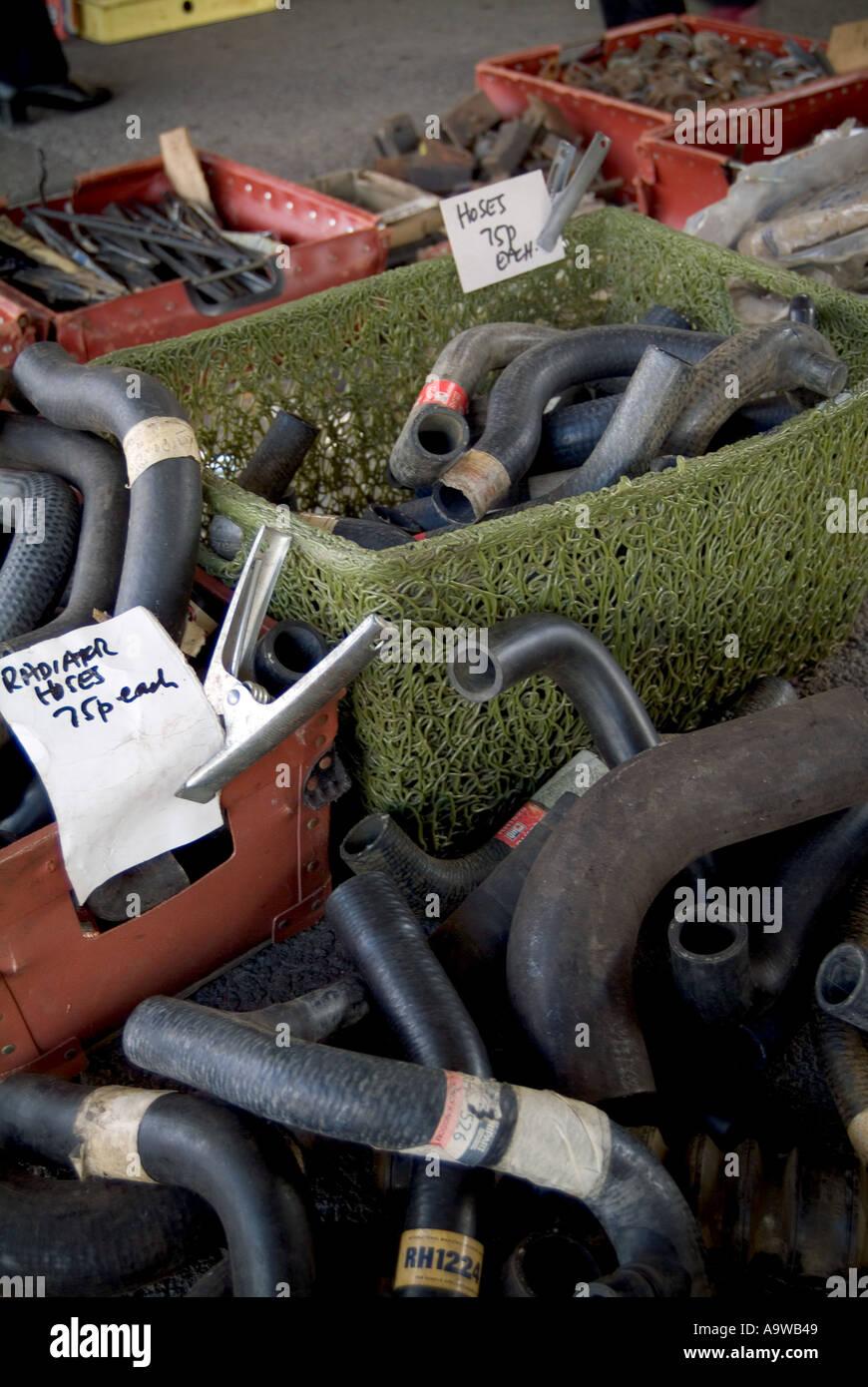 old car parts at car show auto jumble autojumble spare part junk ...