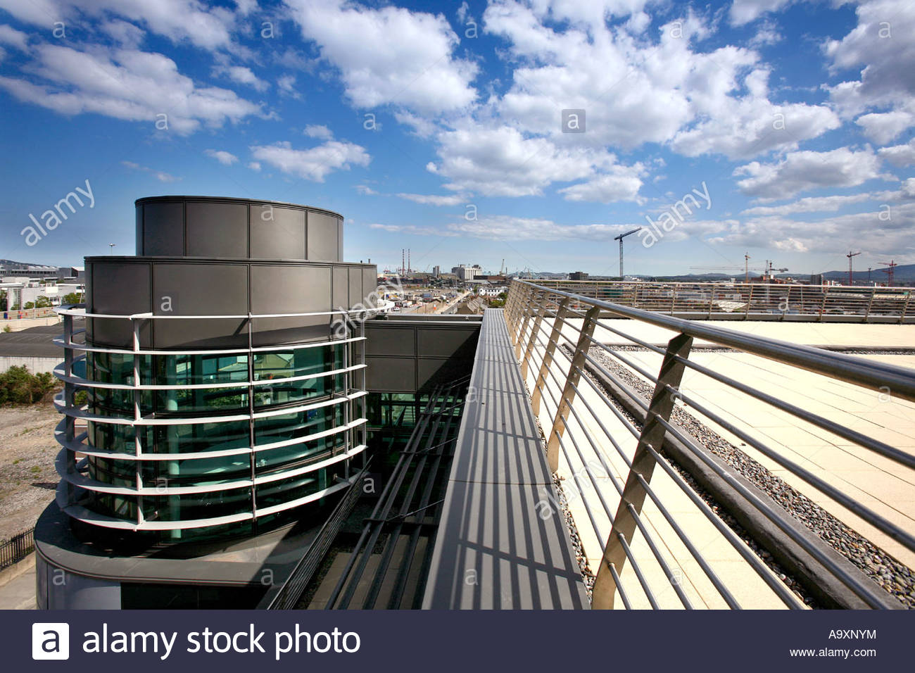 Modern Architecture Dublin modern office block one gateway dublin ireland rooftop view stock