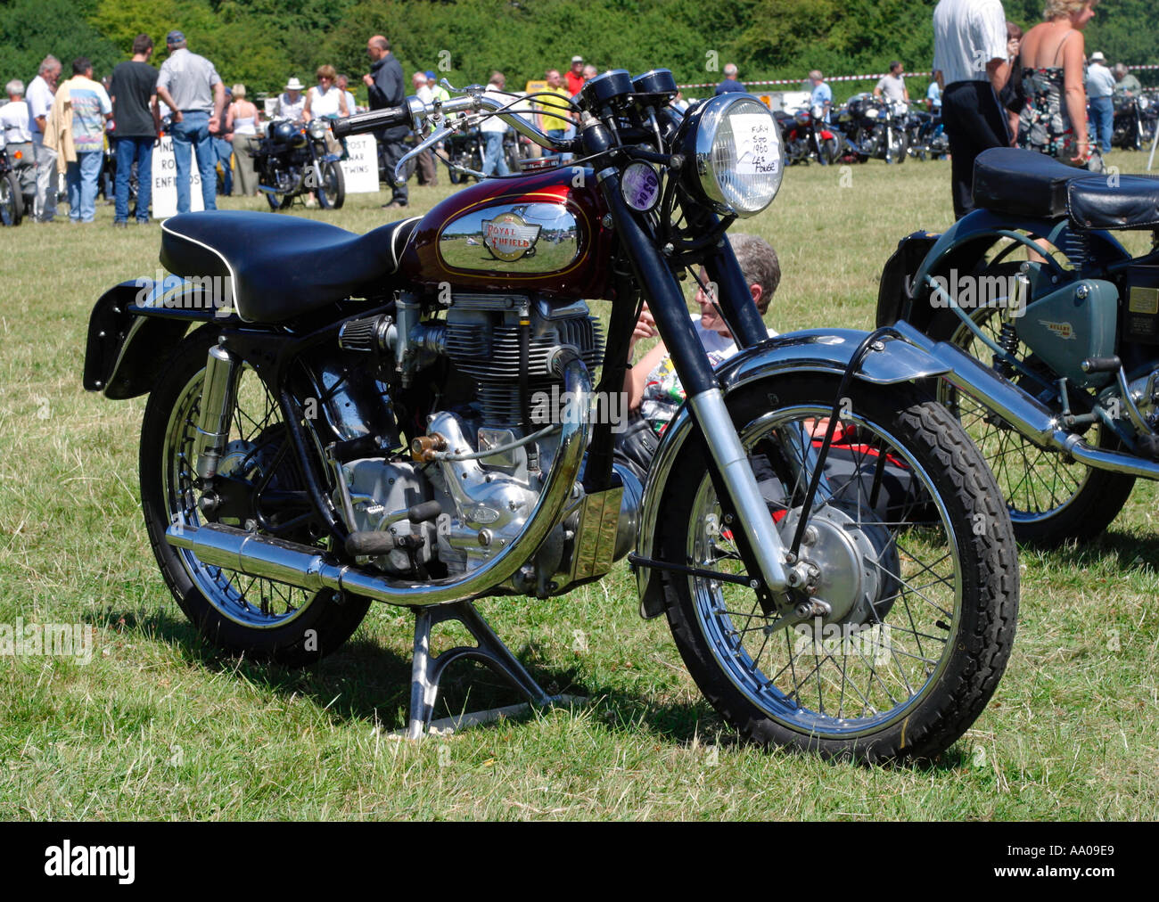 Buy Your Motorcycle >> 1960 Royal Enfield Fury 500cc motorcycle Stock Photo, Royalty Free Image: 657897 - Alamy