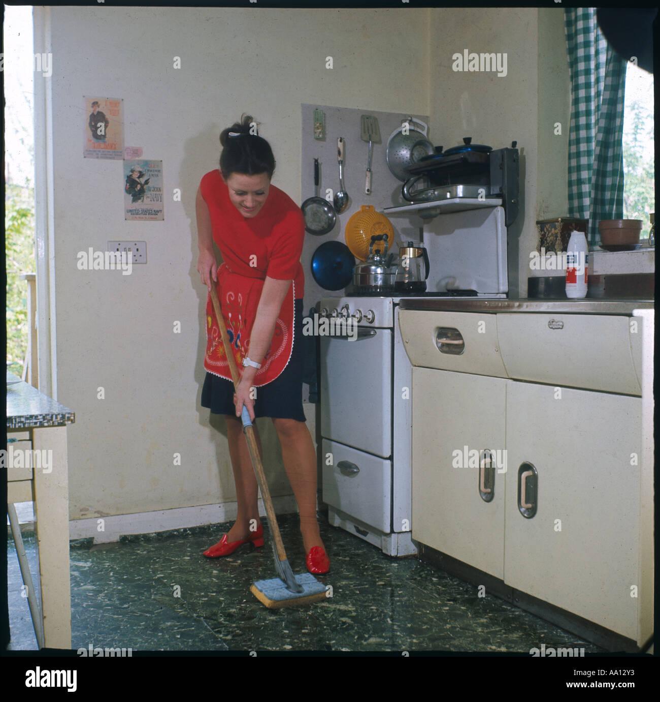 Mopping Kitchen Floor Mopping Kitchen Floor Stock Photo Royalty Free Image 7130930 Alamy