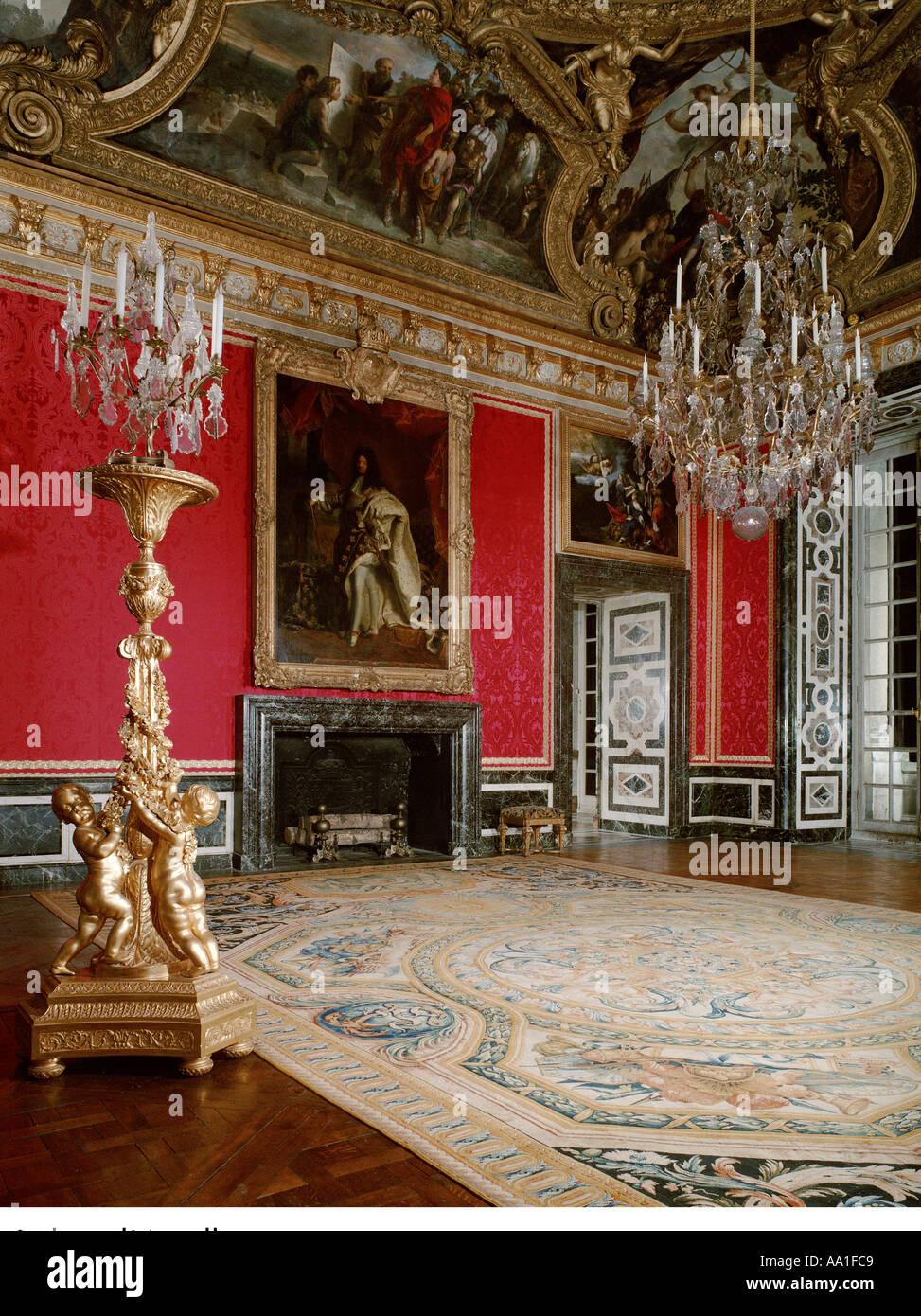 Palace of versailles salon d apollon stock photo royalty for Salon versailles
