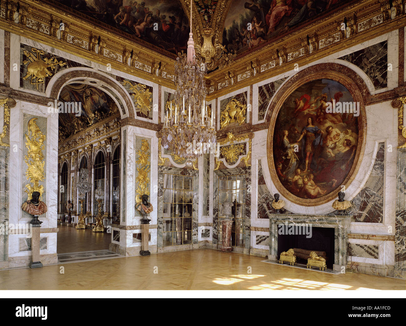 palace of versailles salon de la paix stock photo royalty