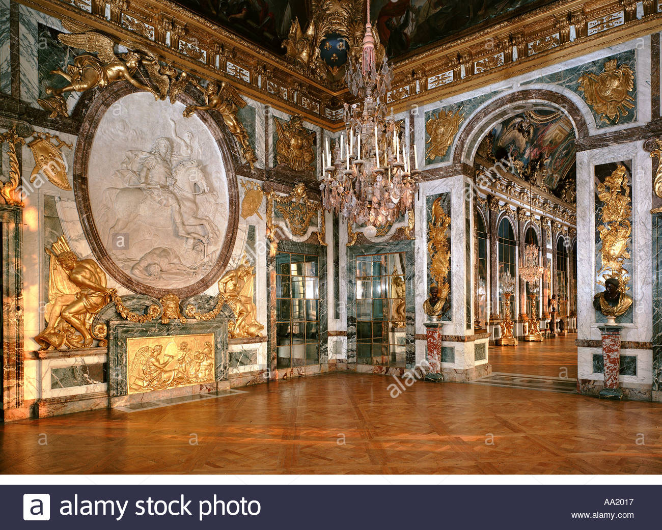 palace of versailles salon de la guerre stock photo