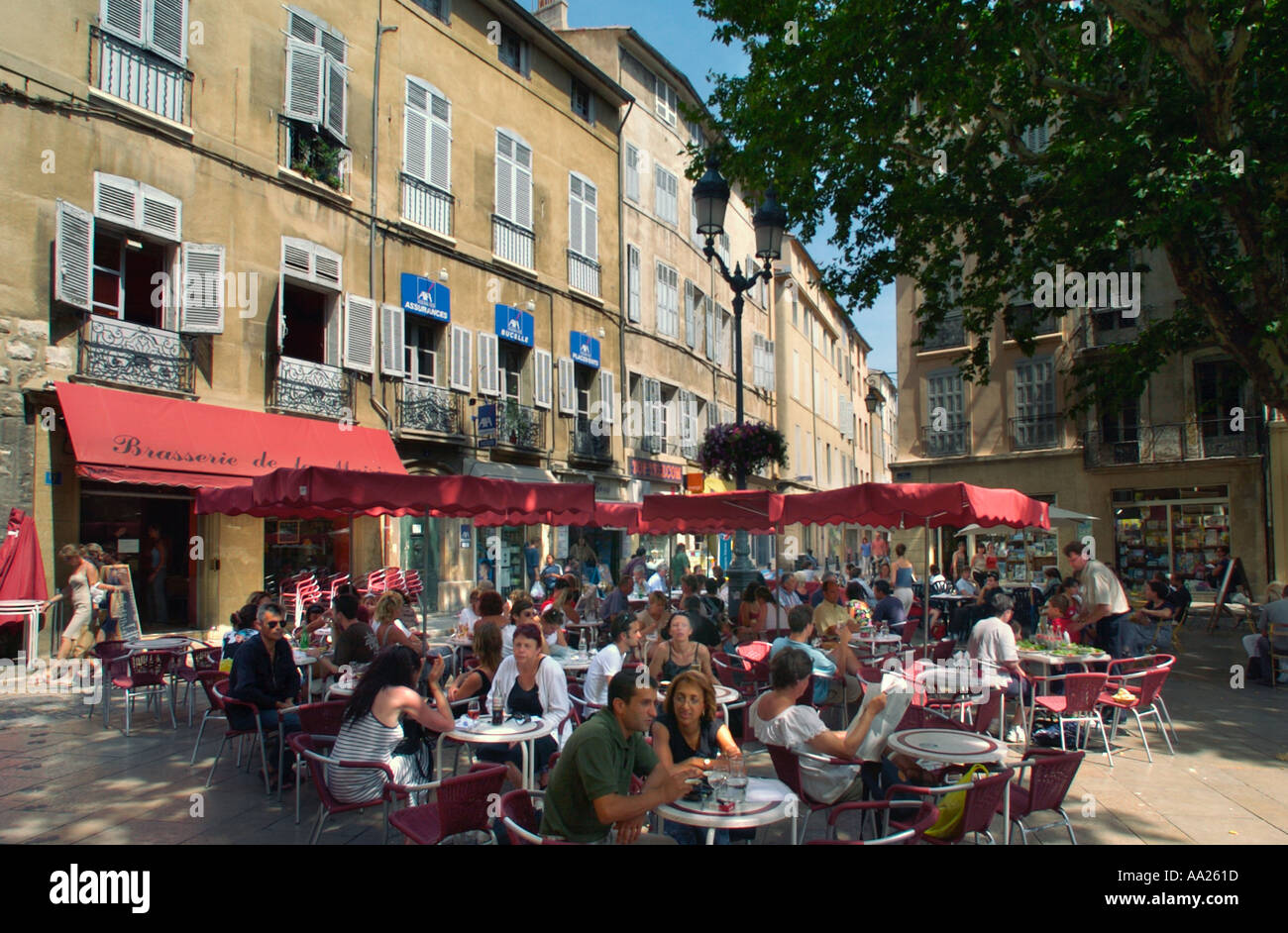 restaurant in the town aix en provence stock photo royalty free image 665117 alamy