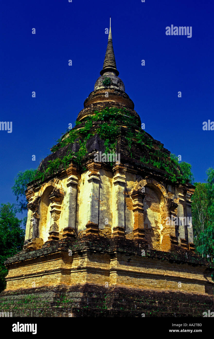 Phra Chedi At Wat Ched Yod Wat Jet Yot 15th Century Chiang ...