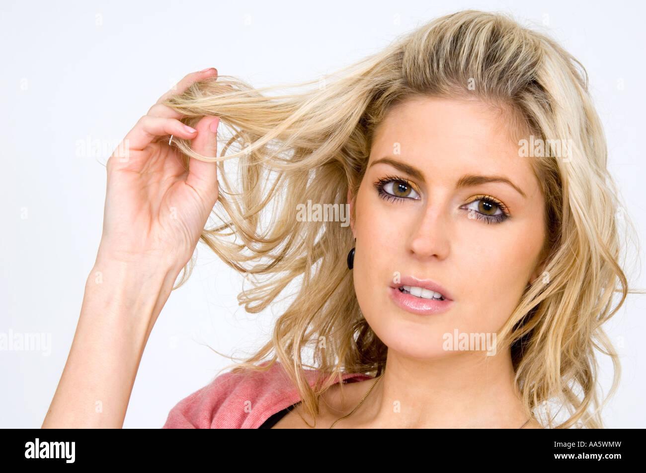 Female Body Language Hair