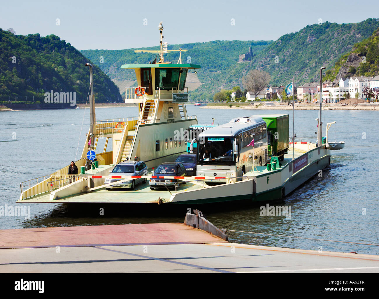 The St Goar To St Goarshausen Car Ferry Service Across The River