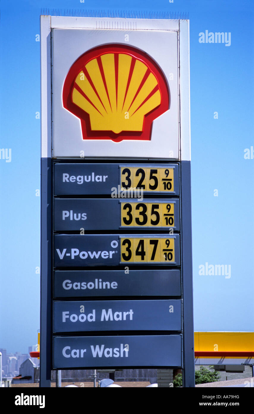 "Gas Prices In California >> ""Shell ""gas station"" sign, showing price of three ^US dollars per Stock Photo, Royalty Free ..."