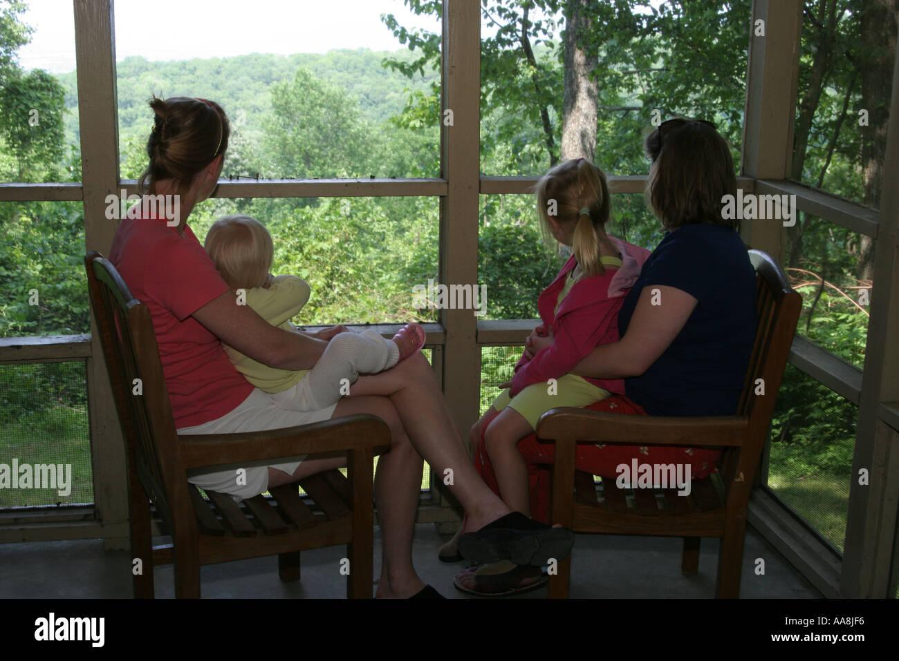 Huntsville Alabama Monte Sano State Park Rental Cabin Porch Family Cottage  Women Scenery