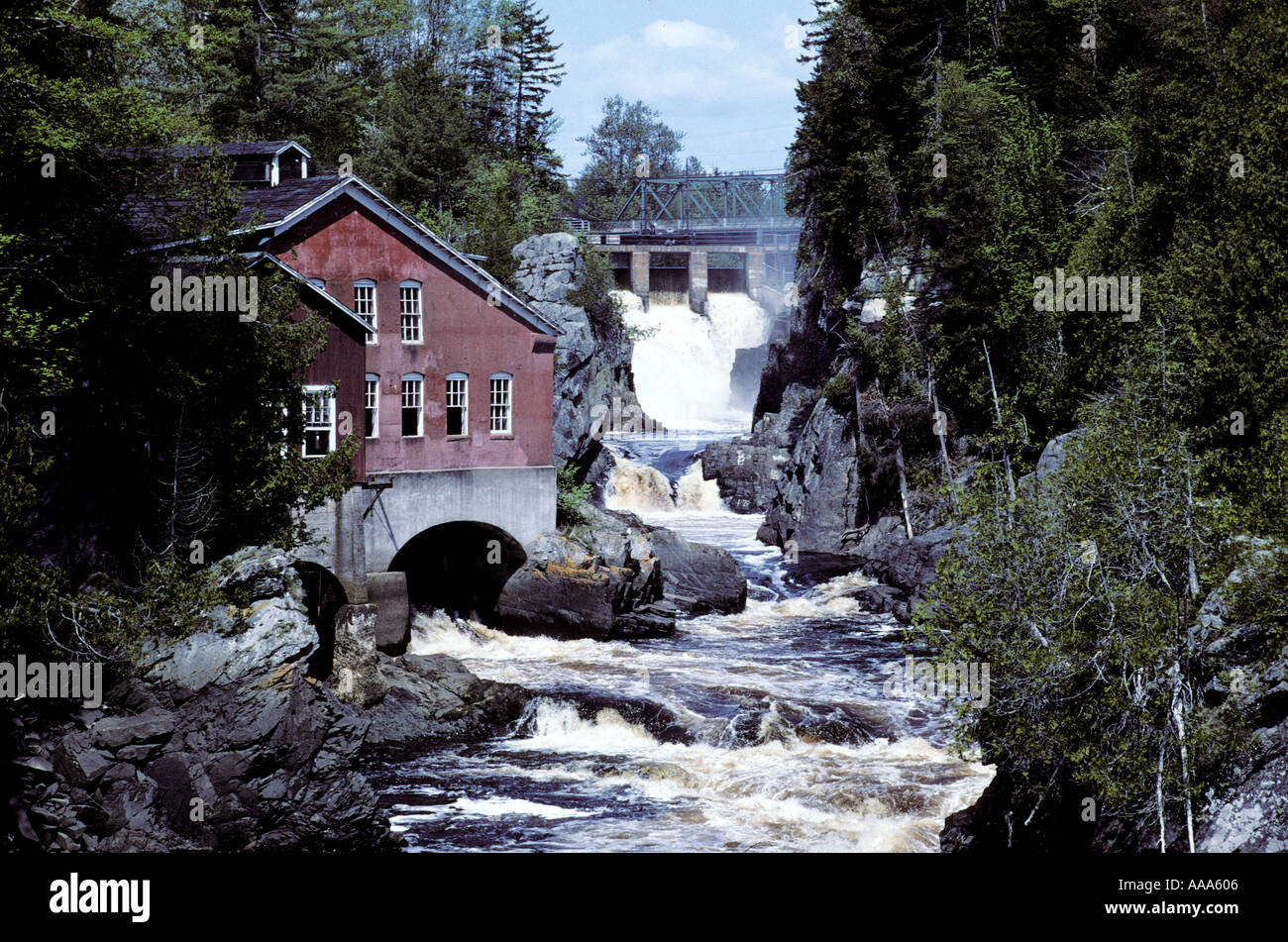dam and water wheel in st george new brunswick canada. Black Bedroom Furniture Sets. Home Design Ideas