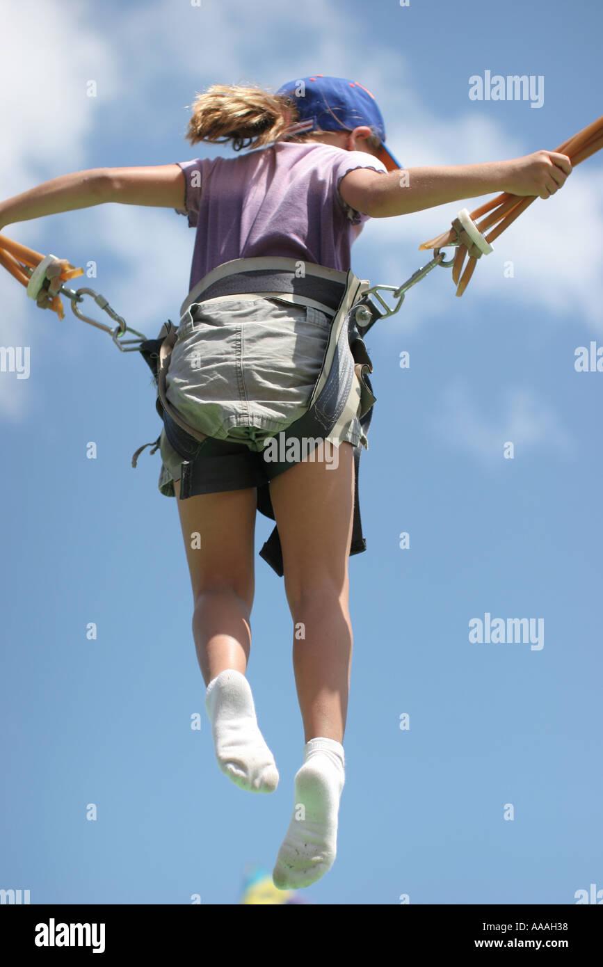 florida bungee safety harness trampoline gymnastics jumping acrobatics girl