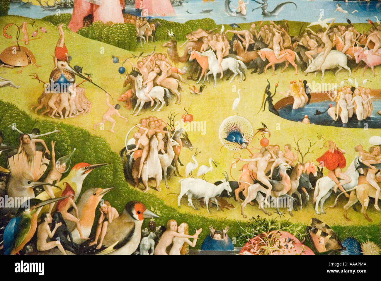 The Garden Of Earthly Delights Painting By Hieronymus Bosch Stock