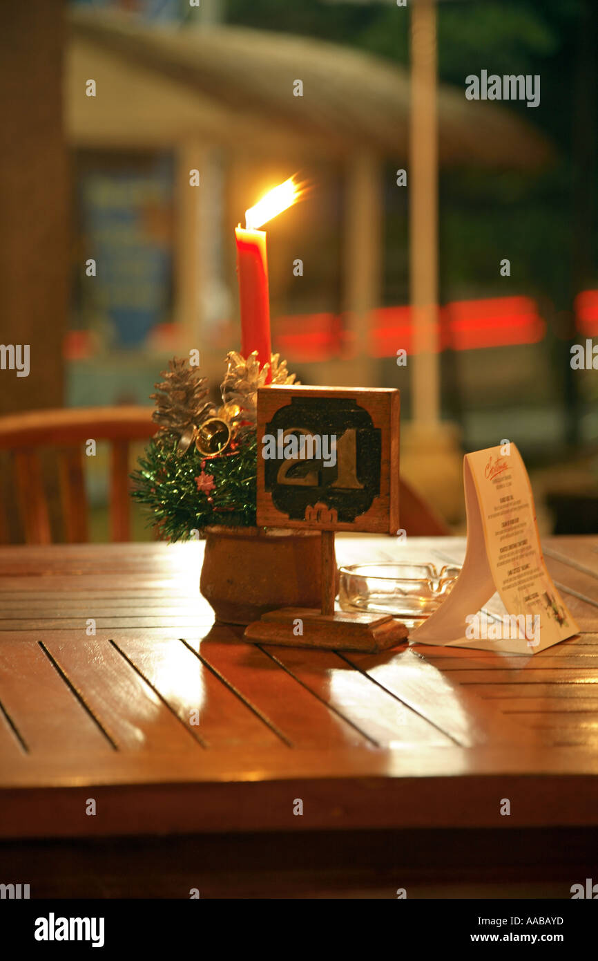 Indonesian Table Setting Table Setting In Balinese Restaurant Bali Indonesia Stock Photo