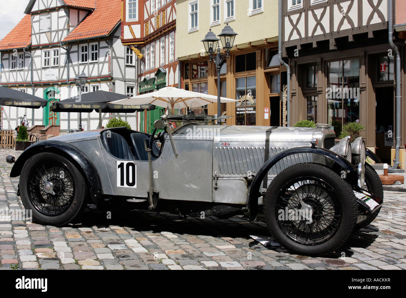 Vintage car Alvis 12 / 50 Roadster of 1927 at the vintage car race ...