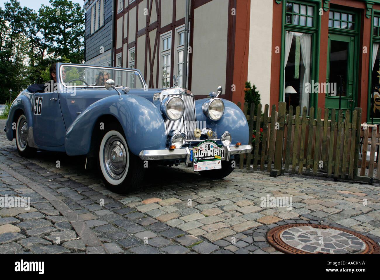 Vintage car Triumph TR 1800 Roadster of 1948, vintage car race ...