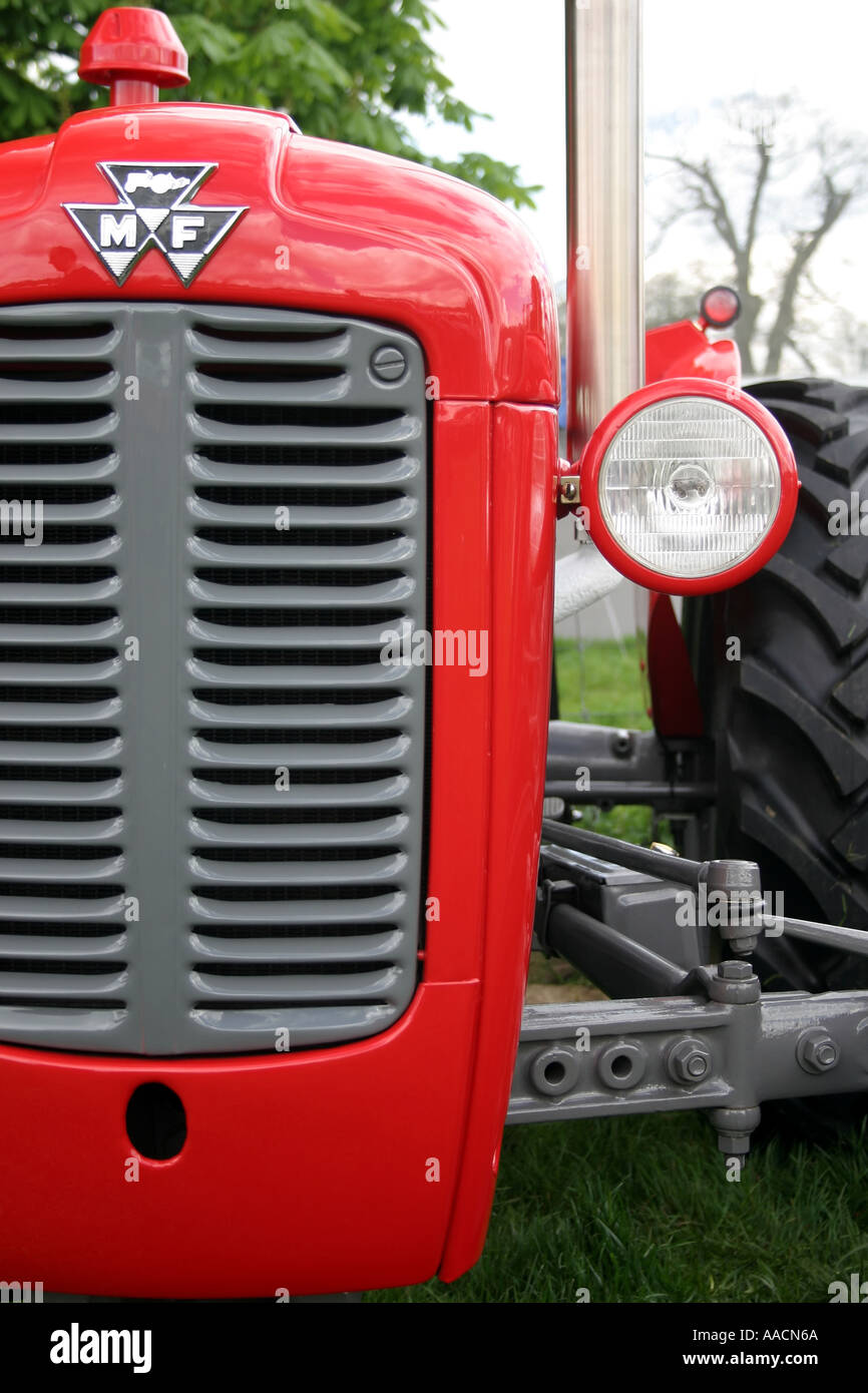 Massey ferguson 35x tractor grill and headlight stock image