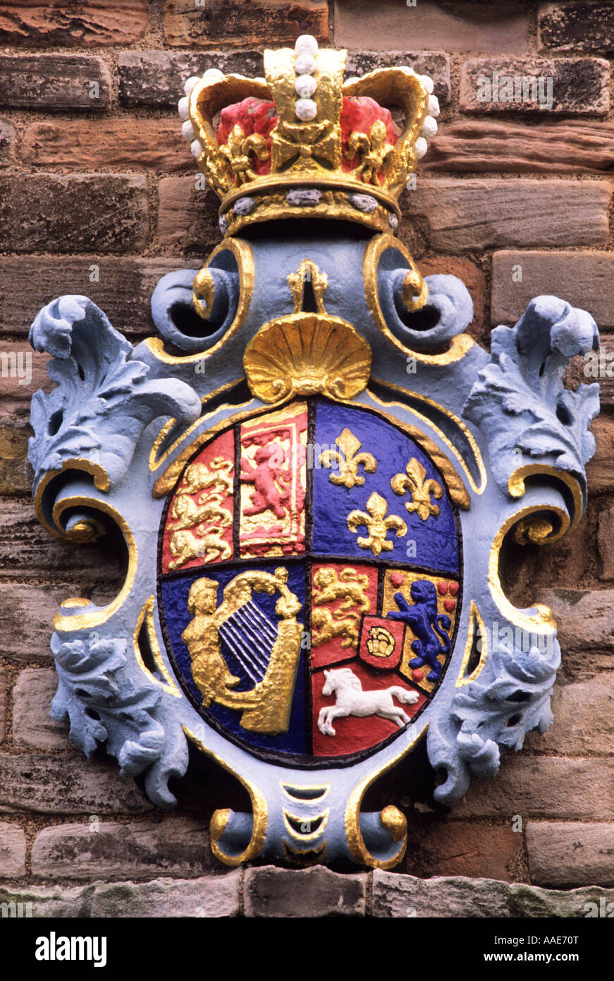 berwick barracks arms of king george 1st northumberland england berwick barracks arms of king george 1st northumberland england uk history english royalty royal coat of arms heraldry