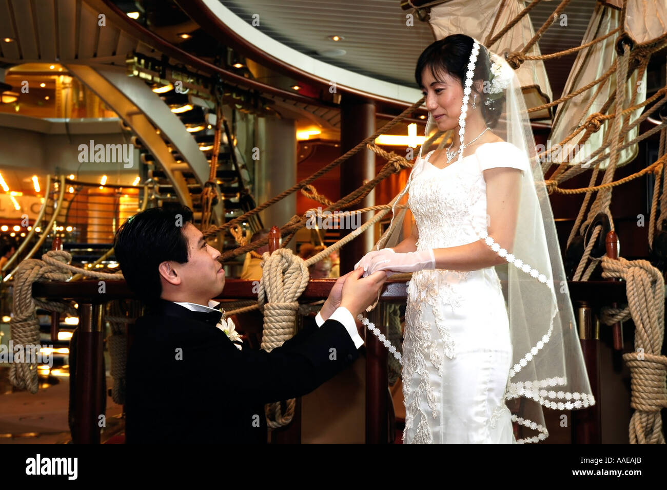Japanese Couple Getting Married On Board Cruise Ship Explorer Of - Getting married on a cruise ship