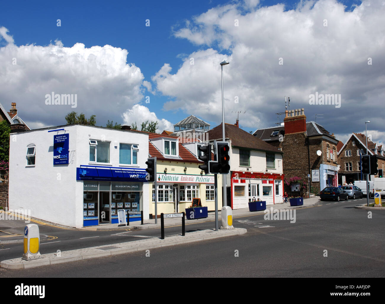 High Street Portishead Somerset England Uk Stock Photo