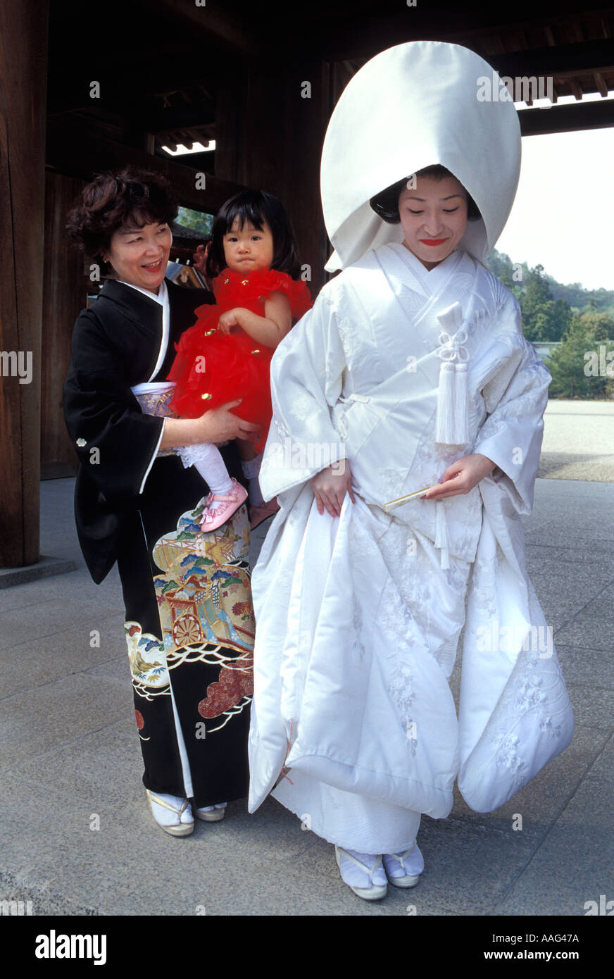 Japanese wedding blessings - Japanese Bride In Traditional Wedding Kimono At Kashihara Shrine Nara Prefecture Japan Bride S Mother And