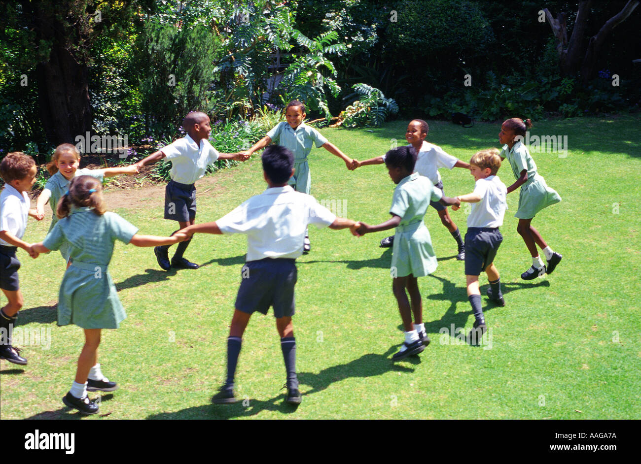 school children playing game outdoors johannesburg gauteng south africa - Images Of Children Playing At School