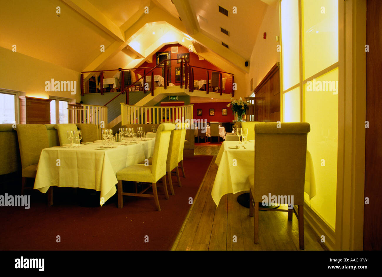 Interior view of l ecrivain restaurant dublin ireland