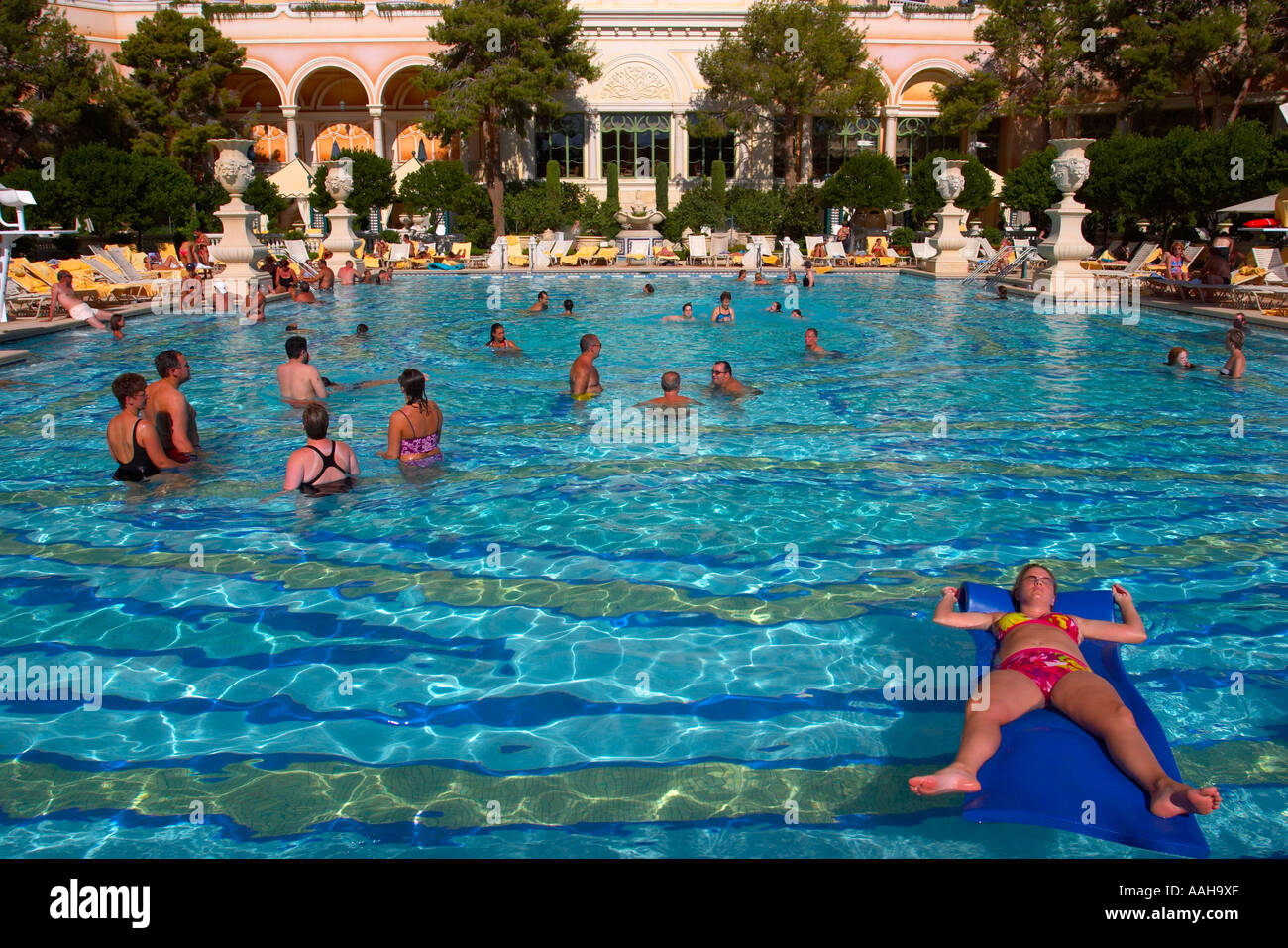 The Swimming Pools Of Bellagio Hotel Las Vegas Nevada Usa Stock Photo Royalty Free Image