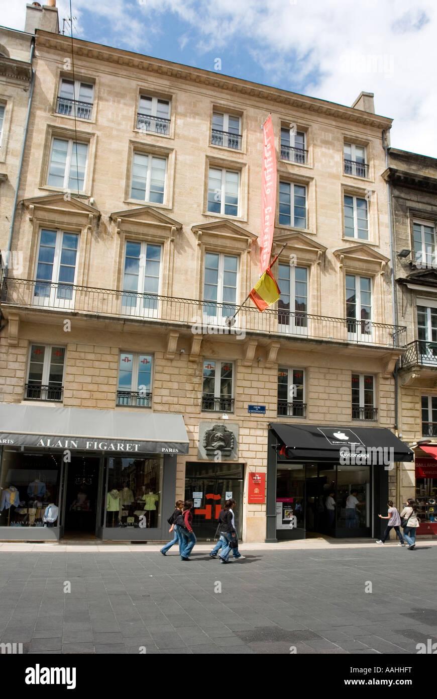57 cours de l intendance where artist goya lived and died for Appartement bordeaux cours de l intendance