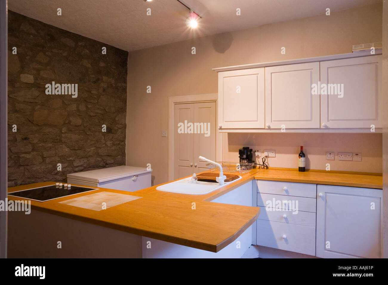 Fitted Natural Wood Kitchen In A  Year Old House In Scotland - Kitchen design scotland