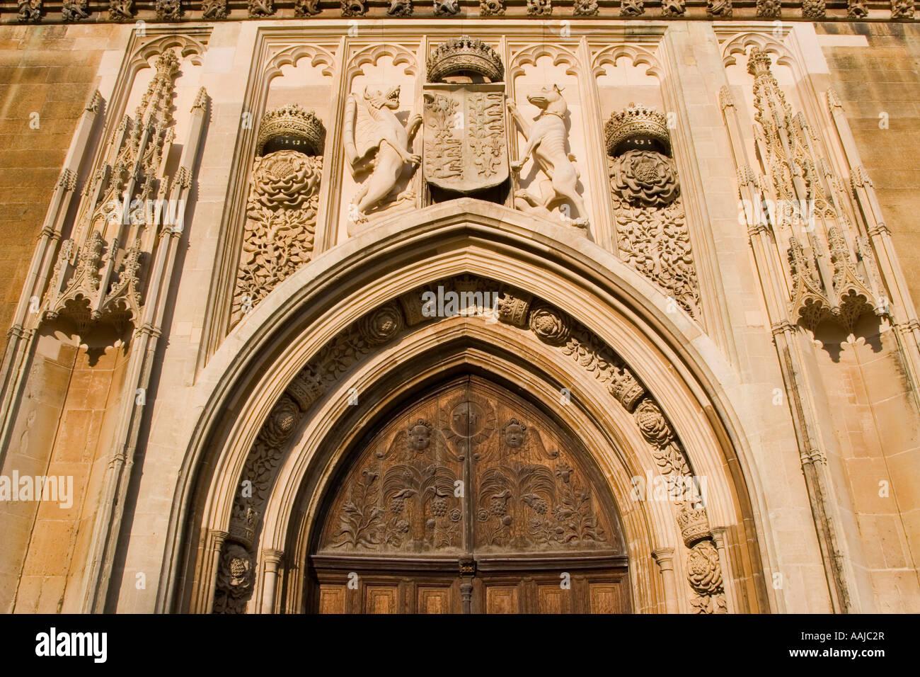 Front door Kings College chapel Cambridge University England & Front door Kings College chapel Cambridge University England Stock ... Pezcame.Com