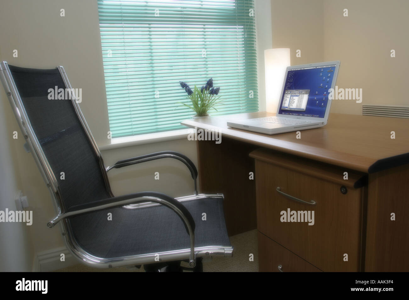 Apple Laptop Computer In Home Office Environment