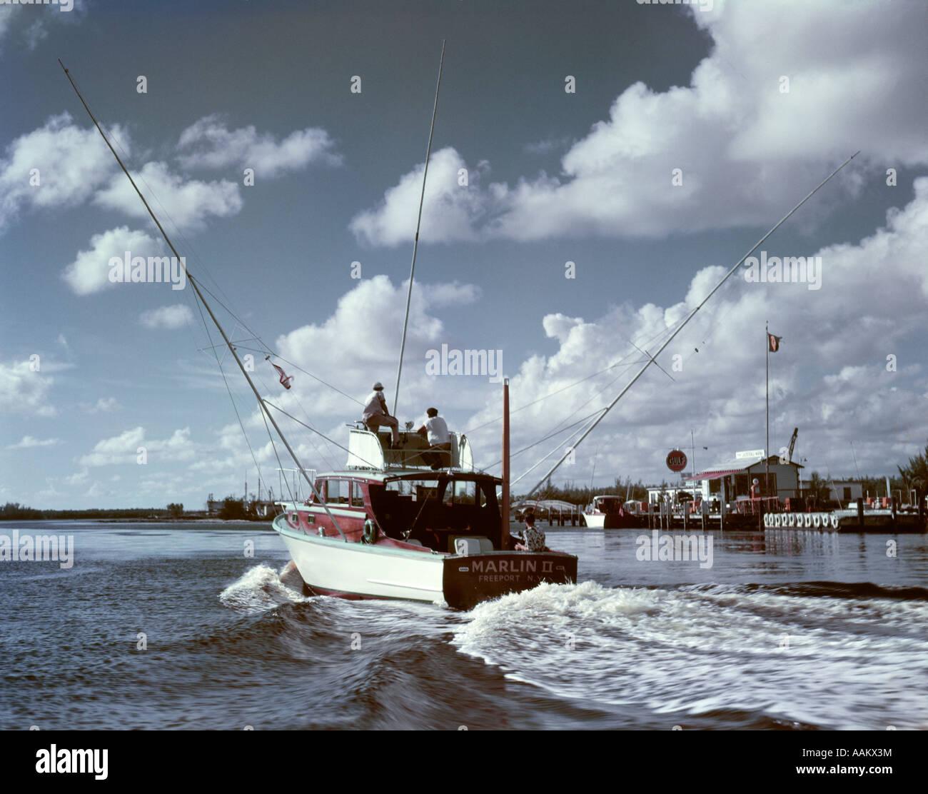 1950s deep sea fishing boat marlin ii underway from harbor for Deep sea fishing fort lauderdale