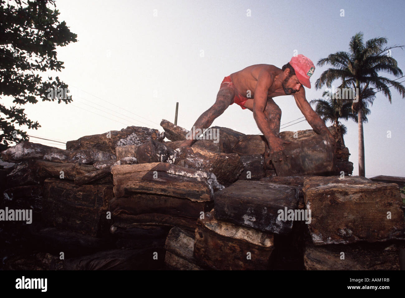 Amazon Brazil Workers Loading Rubber In Truck Exportation Of - Natural resources of brazil