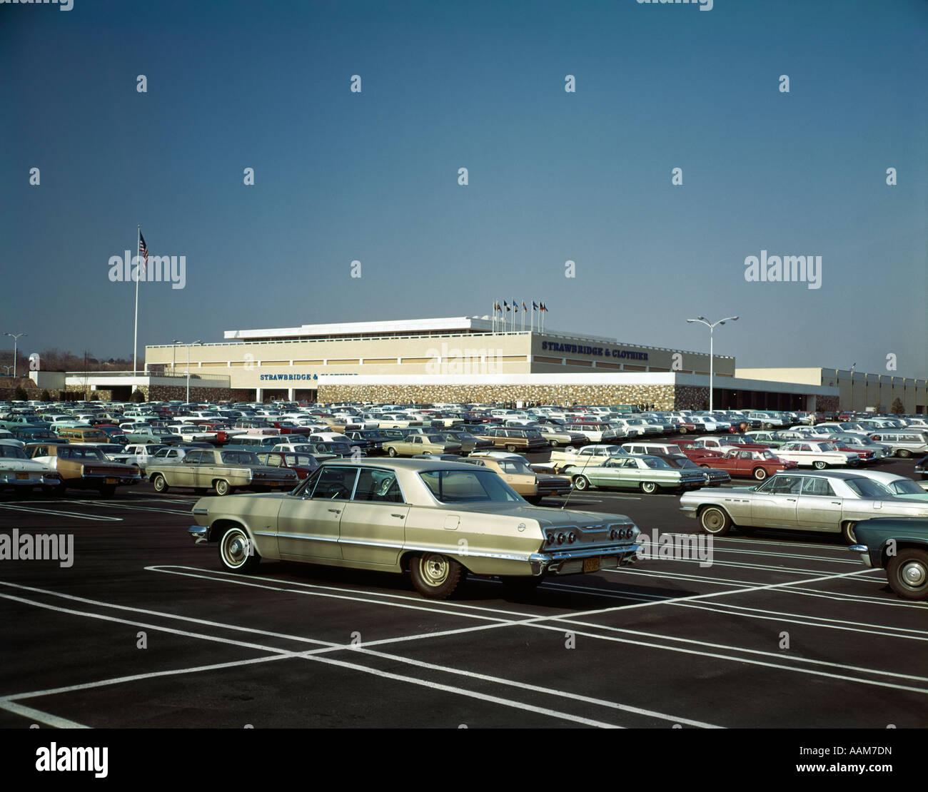 1960s full parking lot of strawbridge clothier department store 1960s full parking lot of strawbridge clothier department store shopping outdoor
