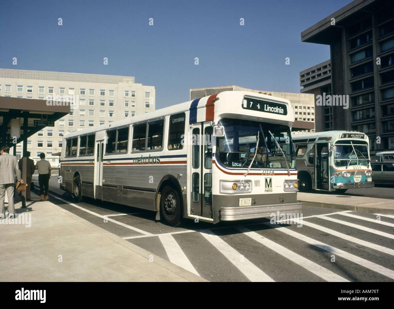 1970 1970s bus terminal metrobus commute commuters for Washington dc department of motor vehicles